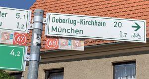 Radrouten-Beschilderung Doberlug-Kirchhain