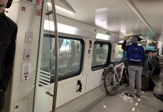 Im Radabteil eines Regionalzuges ist oft reichlich Platz
