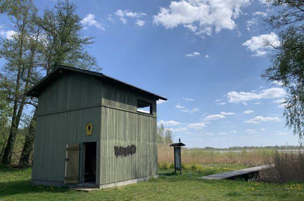 Vogelbeobachtungsturm in Rietz am Rietzer See