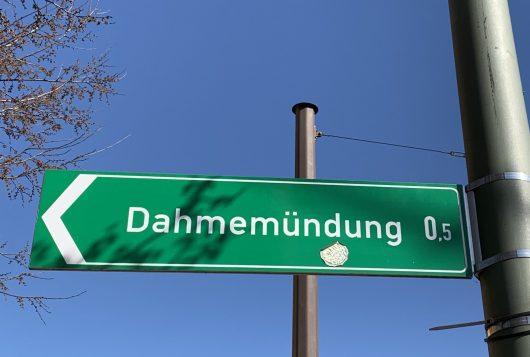 Wegweiser Dahme-Mündung Köpenick